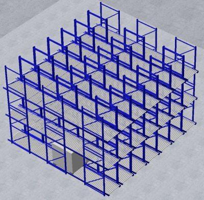 3D CPQ virtuelles Durchlaufregal