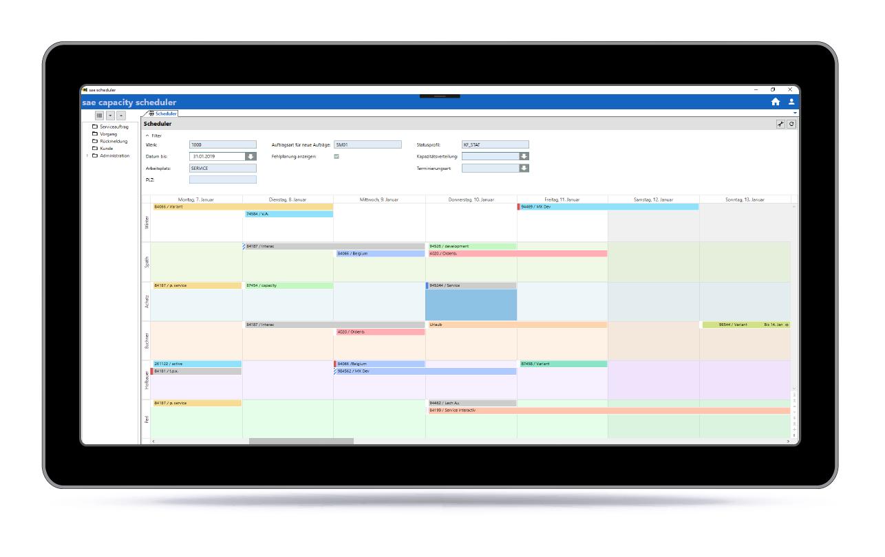 scheduler tablet