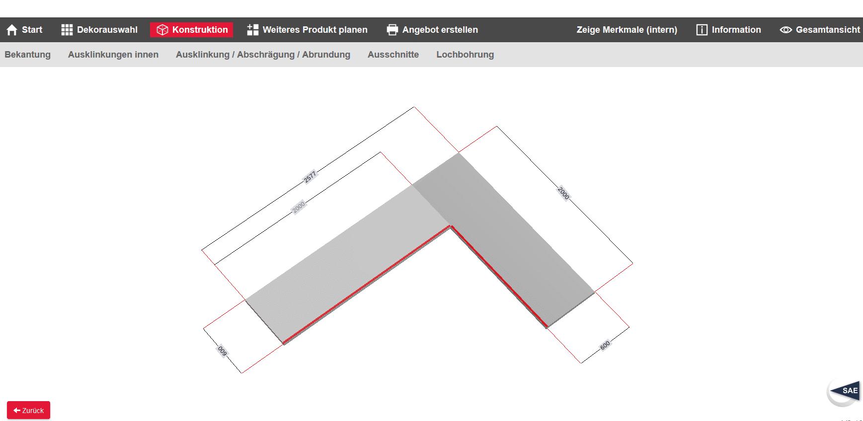 arbeitsplatten konfigurator