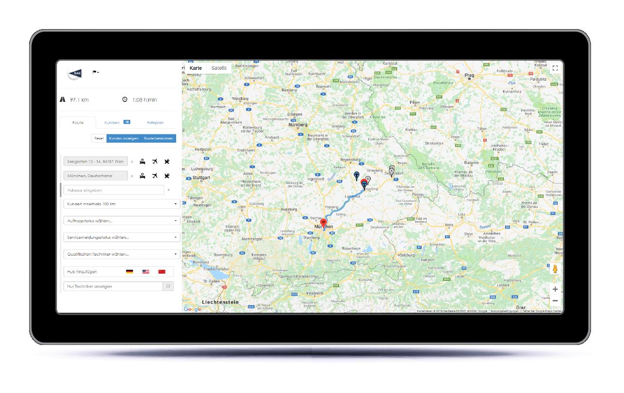 navigation tablet