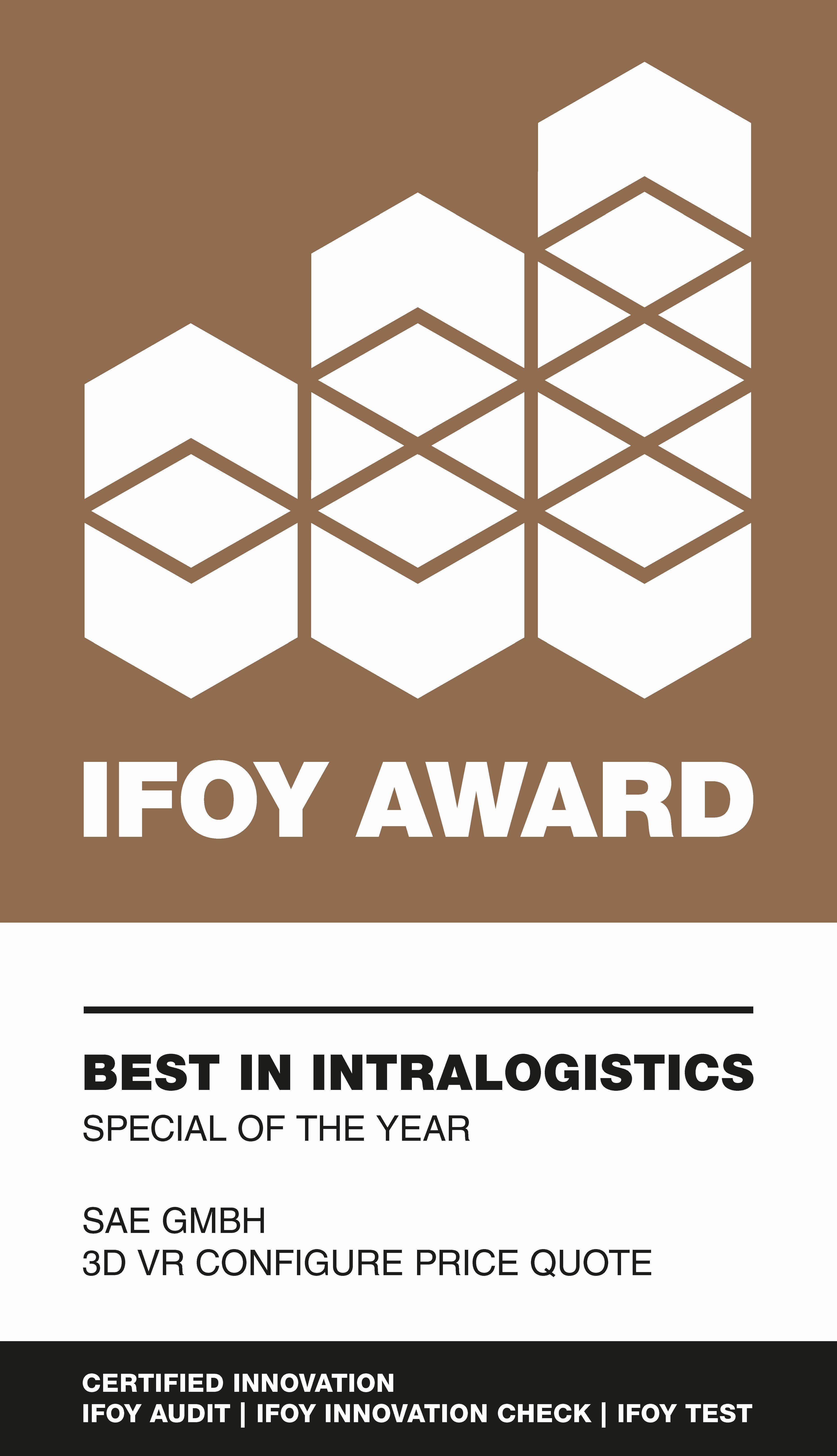 IFOY Award Best in Intralogistics Auszeichnung