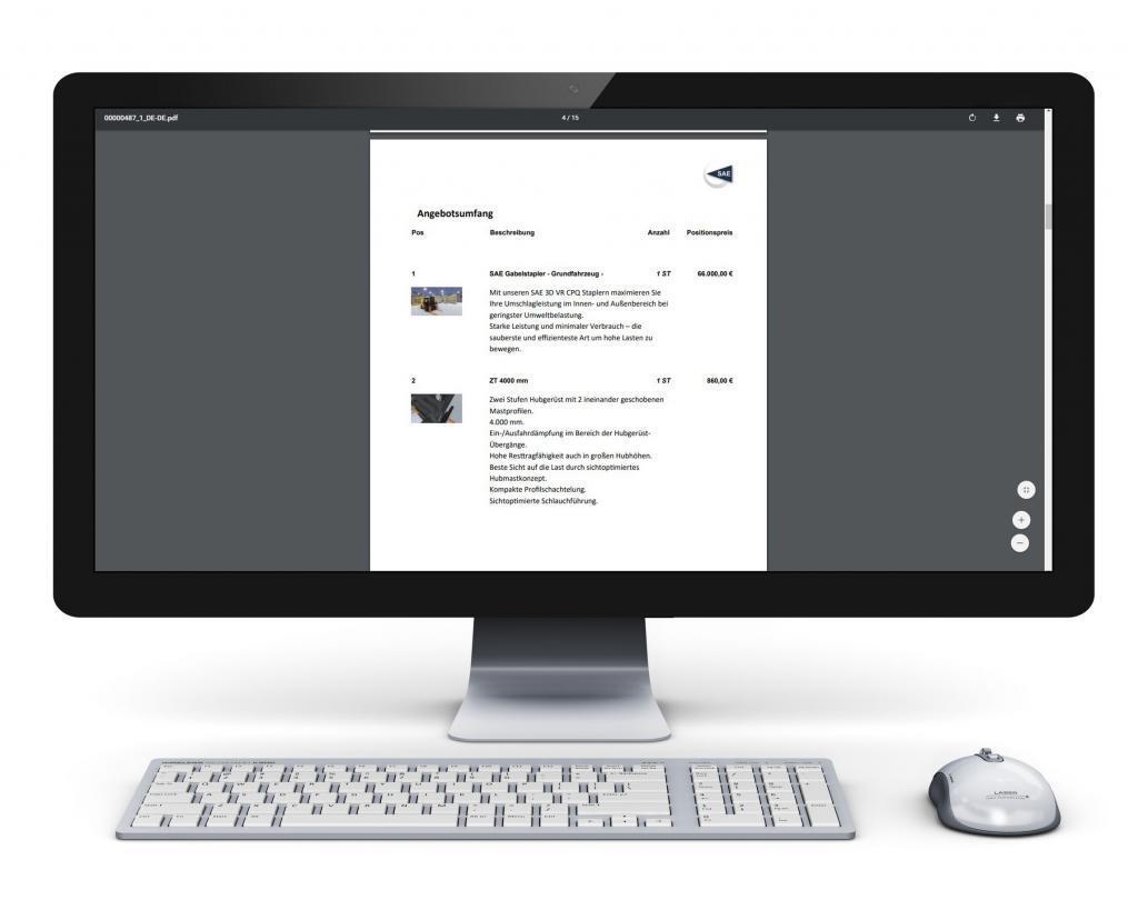 Angebot inklusive Produktbildern
