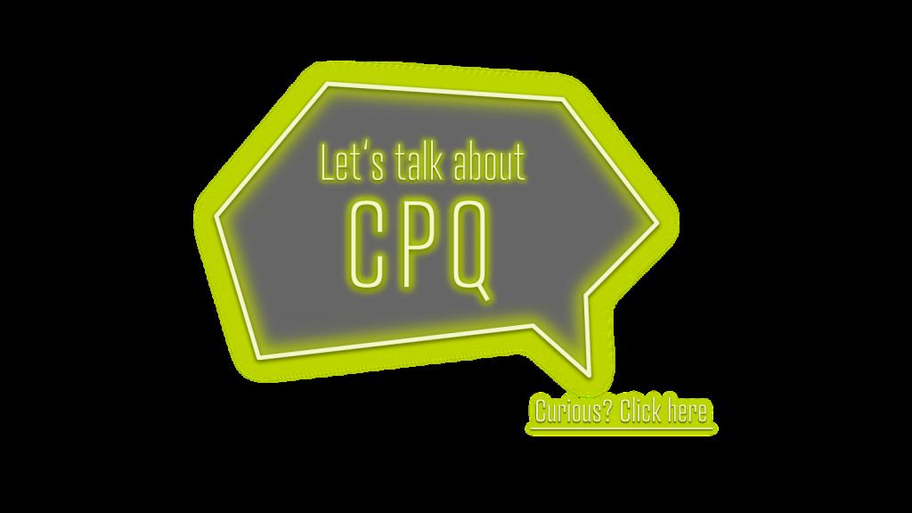 Sprechblase Lets talk about CPQ - Link zu www.sae-cpq.com