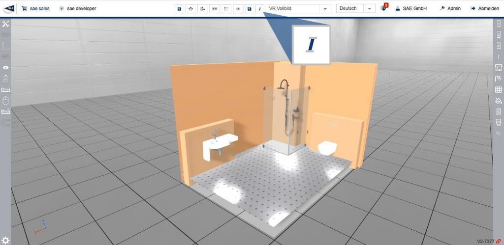Konfiguriertes 3D Modell eines Sanitärsystem an CAD übertragen