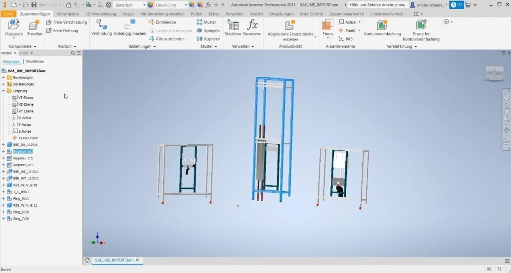 CAD Automation: Sanitärsystem in Autodesk Inventor
