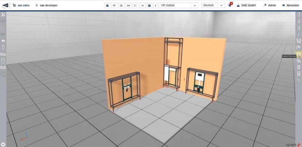 3D Konfiguration eines Sanitärsystems