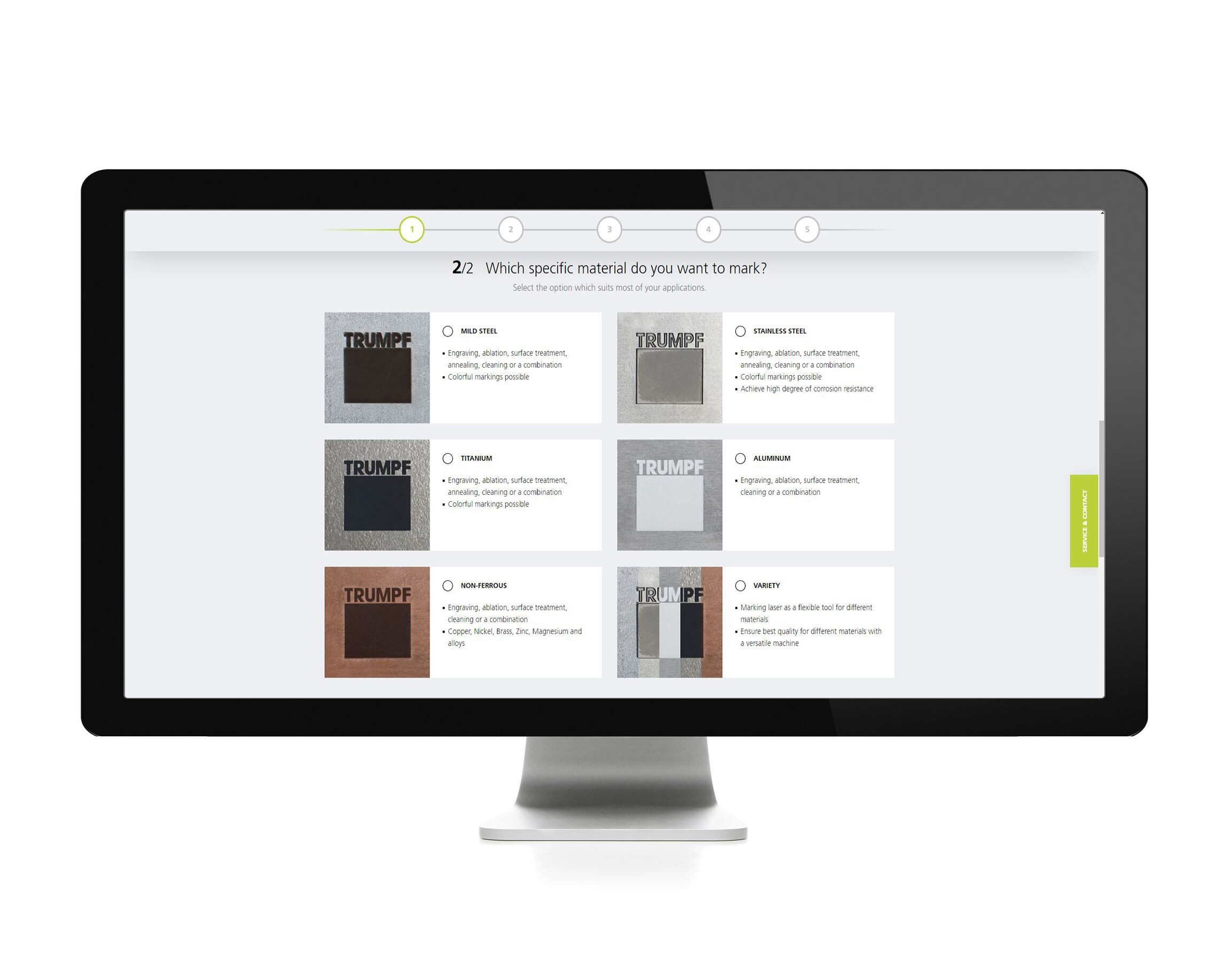 E-Commerce: SAE CPQ Product finder bei Trumpf